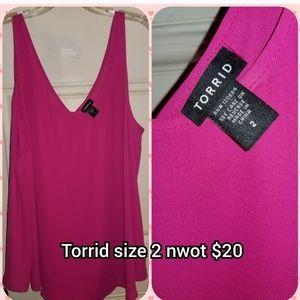 Torrid Hot Pink Sleeveless Tank Top